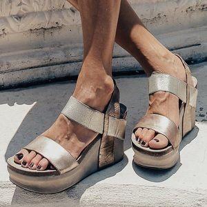 "OTBT Bushnell 4"" Wedge Sandals Size 8.5"